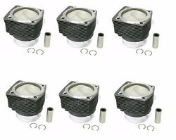 For Porsche 911 Carrera Set Of 6 Piston And Cylinder Mahle 99 0174 915