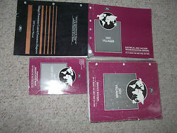 1997 Ford Mercury Villager VAN Service Shop Repair Manual Set 97 FACTORY OEM