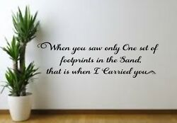 Footprints in the Sand ... Vinyl decal for Family Room Wall Bedroom Living