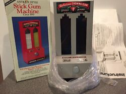 Antique Style Stick Gum Machine Coin Operated Jolly Good Industries New Boxed