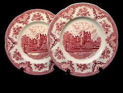 Johnson Brothers Old Britain Castles Pink Set Of 2 10 Dinner Plates