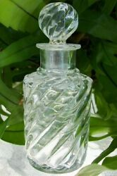 7.25 Tall Swirl Clear Perfume/cologne Bottlepontil Markoldheavycollectible