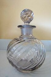 5.75 Tall Roundswirl Clear Perfume/cologne Bottlecollectibleheavygorgeous