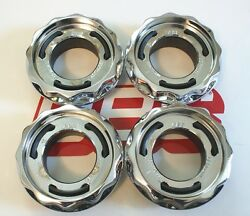 4 Bbs Rc Rsii Chrome Center Cap Hex Nuts 09.24.439c 09.24.383 For Vw And Others