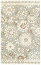 Sphinx Grey Contemporary Hand Knotted Loops Petals Paisley Area Rug Floral 93003