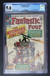 Fantastic Four #26 -NEAR MINT- CGC 9.6 NM+ Thing VS Hulk - Avengers X-Over!!!