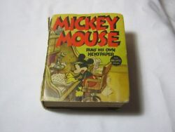 Mickey Mouse Runs His Own Newspaper Big Little Book T