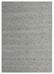 Kalaty Blue Contemporary Hand Tufted Petals Loops Leaves Area Rug Floral Vl-521