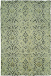 Kalaty Blue Curved Mirrored Angles Rows Contemporary Area Rug Geometric Gr-710