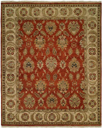 Kalaty Orange Leaves Bulbs Petals Traditional-European Area Rug Bordered PH-974