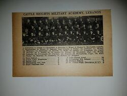 Castle Heights Military Academy Lebanon Tennessee 1928 Football Team Picture