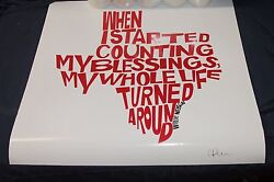 Willie Nelson Quote Hand Signed Print - Sort Of Cool 20 X 20 Inch State Of Tx