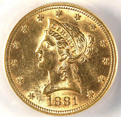 1881 10 Ms61 Anacs - Great Luster