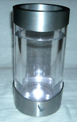 Grey Goose Vodka Lighted Bottle Chiller Battery Operated Metal And Plexi Glass