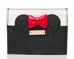 Kate Spade X Disney for minnie mouse Leather card case holder NWT $54.40