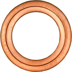 Amz Clips And Fasteners 10 Copper Oil Drain Plug Gaskets Id 14mm Od 22mm