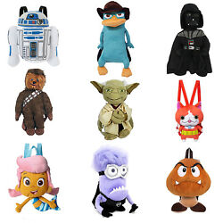 Cartoon Plush Backpack Kids Bag Toy Bag with Zipper Pouch Multiple Styles $7.99