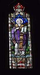 Older Stained Glass Church Window +