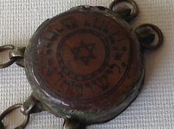 Antique Judaica Kabbalah Amulet Middle East Silver Carnelian Charm M988a