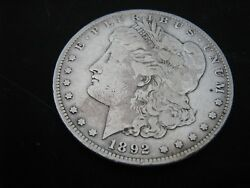 1892-s Morgan Silver Dollar Over 124 Years Old / Part Of U.states History 424