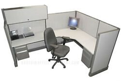 6x8 Herman Miller Medium Wall Office Cubicles with your Fabric amp; Paint Choice