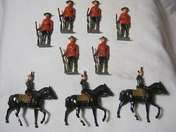Old Lead Metal Johill Figures Toy Soldiers Lot T