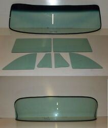 1953 1954 Pontiac 2 Dr Sedan Glass Windshield Vent Door Quarter Rear Back Set GT