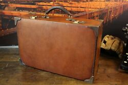 ABERCROMBIE & FITCH New York Bespoke Leather Briefcase Suitcase Bag Mens