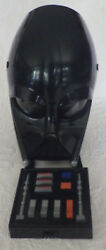 Black Face Mask Darth Vadar Voice Box Large Size Childs Needs Batteries Great