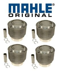 For Porsche 356sc 912 1.6 H4 Set Of 4 Engine Pistons And Cylinders W/ Rings Oem