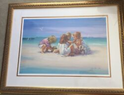 Lucelle Raad Island Girls Lithograph On Paper 30/950 Hand Signed
