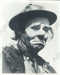 1954 Ringling Bros Circus Clown Emmett Kelly Weary Willie Hobo Press Photo