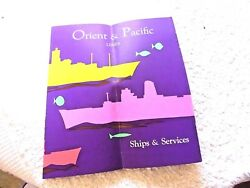 Vintage Pamphlet Orient And Pacific Lines Ships Iberia Arcadia Chusan Orsova 1959