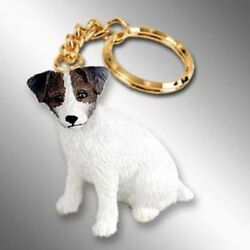 Jack Russell Terrier Dog Tiny One Resin Keychain Key Chain Ring