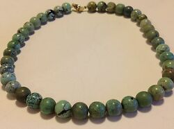 Antique Chinese Turquoise Beads 53.9 Gram Necklace Original Jewelry M1180