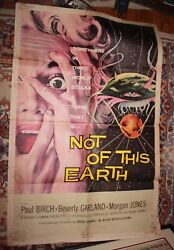 Not On This Earth One Sheet Original Movie Poster Allied Artists 1957