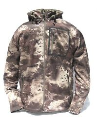 Cabelaand039s Menand039s Lookout Series Fleece Hooded Silent Hunting Jacket O2 Octane Camo