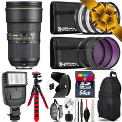 Nikon Af-s 24-70mm F/2.8e Vr + Flash + Tripod And More - 64gb Holiday Gift Kit