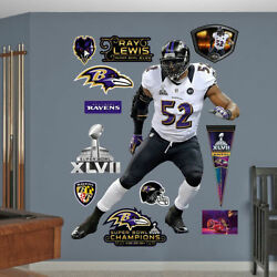 Ray Lewis Super Bowl Xlvii 5and0394 X 5and03910 Ravens Legend Real Big Fathead + Extras