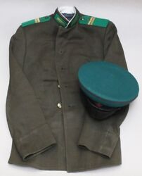 Russia Ussr Kgb Border Guard Sergeant Uniform Jacket And Hat With Cockade 0