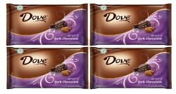 Dove Almond & Dark Chocolate Silky Smooth Promises Chocolate Candy 4 Bag Pack