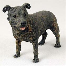 Staffordshire Bull Terrier Dog Hand Painted Canine Collectable Figurine Statue