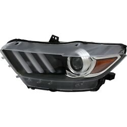 Headlight For 2015-2017 Ford Mustang Driver Side