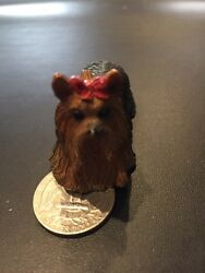 YORKSHIRE TERRIER Dog Tiny Miniature Resin Animals Figurine Approx 2