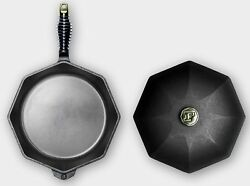 Finex Cast Iron 12 Eight Sides Skillet Cooking Pan With Lid New
