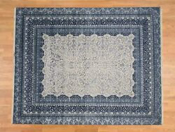 7'10''x9'10'' Tone-on-Tone Village Design Wool and Silk 300 Kpsi Rug R38250