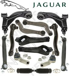 For Jaguar X-Type Front & Rears Control Arms Tie Rod Ends Sway Bar Boots Kit OES