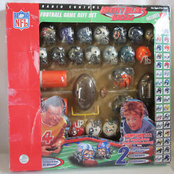 2004 Nfl Mighty Helmet Racers Remote Control Game W/box No Game Board 32 Helmets