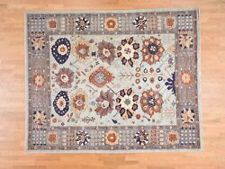 8and0392and039and039x10and039 Peshawar With Antiqued Sultanabad Design Hand-made Oriental Rug R38417