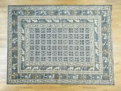 10and0391x12and0399 Hand-knotted Antiqued Pazyryk Design Anatolian Oriental Rug R34599